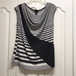 Carole little grey striped top